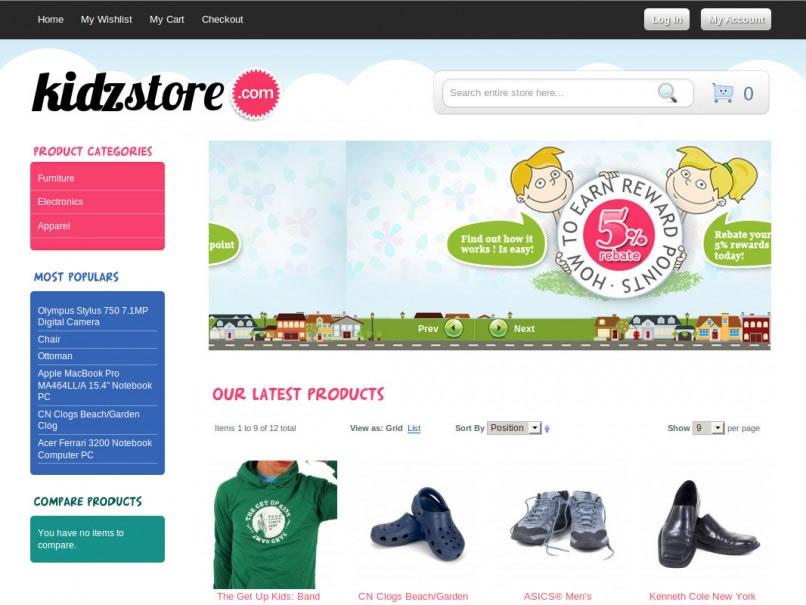 magento ecommerce templates free